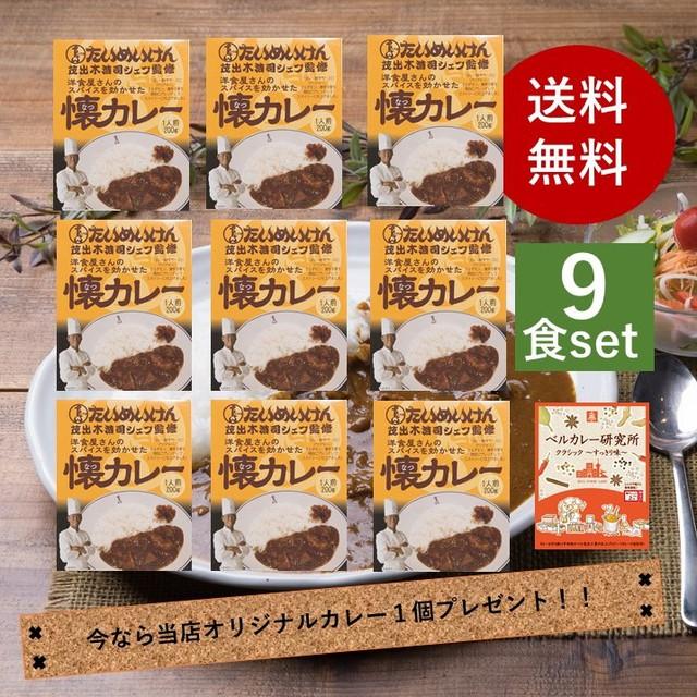 三代目たいめいけん茂出木シェフ監修 洋食屋さんのスパイスを効かせた懐カレー 200g×9食入