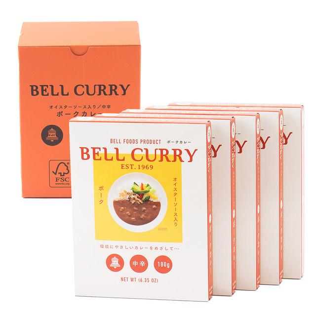 BELL CURRY  オイスターソース入りポークカレー 180g×5食入