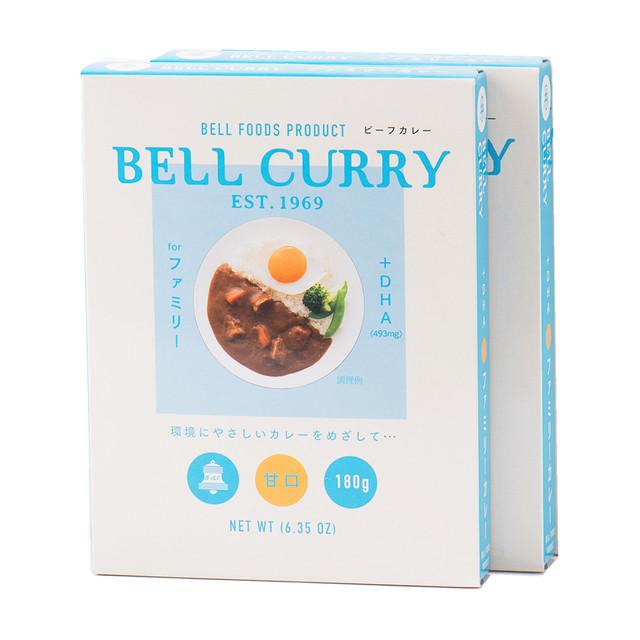 BELL CURRY  +DHAファミリービーフカレー 180g×2食入